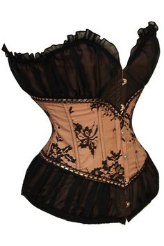 New Sexy Navajo White Peasant Burlesque Corset SIZE:S/L/M/XL Product ID: CS3309