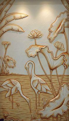 Water Front – Mural Wall Art – Credible Art in 2019 Clay Wall Art, Mural Wall Art, Mural Painting, Glass Painting Designs, Wall Art Designs, Clay Art Projects, Plaster Art, Indian Art Paintings, Art N Craft