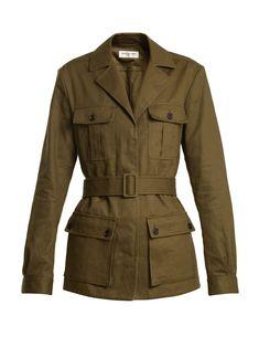Belted cotton-blend jacket   Saint Laurent   MATCHESFASHION.COM UK