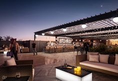An exploration into a development opportunity for a roof top bar on a re-purposed industrial building. Roof Terrace Design, Rooftop Design, Rooftop Bar, Restaurant Exterior Design, Luxury Restaurant, Roof Top Cafe, Airbnb Design, Terrace Building, Door Gate Design