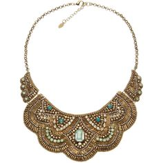 Accessorize Eden Wow Bib Collar ($37) ❤ liked on Polyvore