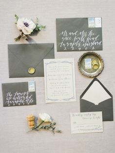 Elegant invites: http://www.stylemepretty.com/2015/03/09/elegant-winter-wedding-inspiration/ | Photography: Krista A Jones - http://kristaajones.com/