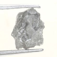 1.32 Ct African Natural Loose Diamond Rough Uncut Shape Silver GRay Color