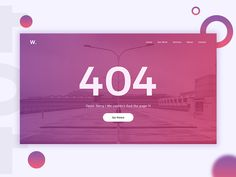 404 Page UI Design #DailyUI008 Ui Ux Design, Page Design, Web Banners, 404 Page, Design Inspiration, Search, Illustration, Photography, Art