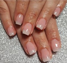 Acrylic overlay on short nails ~ the shape is perfect. I ...
