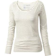 Fat Face Lara Long Sleeve Stripe T-Shirt ($17) ❤ liked on Polyvore featuring tops, t-shirts, shirts, long sleeves, blusas, white long sleeve tee, striped shirt, t shirts, long sleeve tee and white long sleeve shirt