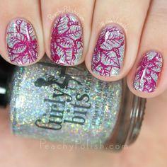 Girly Bits Don't Tangle Your Tinsel Nail Art Stamping   Holiday Magic Collection   Peachy Polish