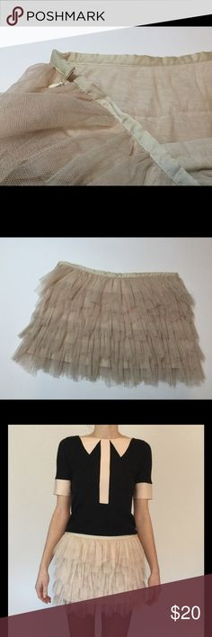 Tulle mesh tutu mini skirt So adorable! Can be worn on its own or under another skirt or dress to give it volume. Bought at consignment shop and never wore it. So kind of NWT. Not Free People... but could be. Free People Skirts Mini