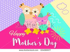 Mother's Day. Happy Mothers Day. Mothers day card. #mothers #momlife #mama #mother #mymother #greeting #vector