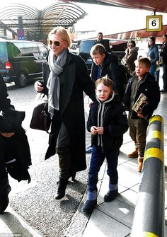 Happy family:Cate already has boys Dashiell, 13, Roman, 10, and Ignatius, seven, with her...