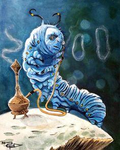 Caterpillar Painting - The Caterpillar by Tom Carlton