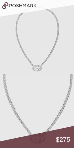 """GG NECKLACE Sterling silver 17.7"""" length Made in Italy Gucci Jewelry Necklaces"""