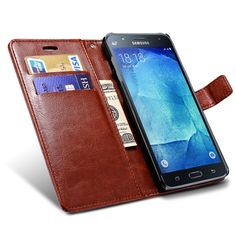Wallet Flip Case For Samsung Galaxy J5 Broncos PU Leather Cover With Card Holders J500h J 5 Coque Phone Bag Black Capinha
