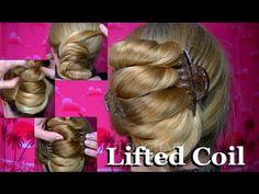 JJJs Lifted Coil Bun with floor length hair & 2 claw clips! ( HD )