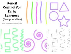 Pencil Control for Early Learners printable set