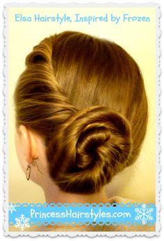 Elsa Hairstyle Tutorial Inspired By Disney (Frozen) - Princess Hairstyles Dance Hairstyles, Princess Hairstyles, Little Girl Hairstyles, Pretty Hairstyles, Braided Hairstyles, Wedding Hairstyles, Frozen Hairstyles, Elsa Coronation, Faux Hawk