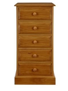 Harbury Solid Pine Chest of 5 Drawers,