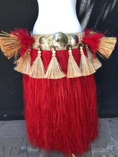 Excited to share this item from my shop: Hip belt with more' skirt Hawaiian Girls, Hawaiian Luau, Tahitian Costumes, Tahitian Dance, Hula Skirt, Red Skirts, Dance Costumes, Hibiscus, Color Combos