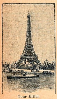 Free Clip Art - Vintage Eiffel Tower - The Graphics Fairy