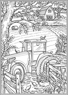 Creative Haven Country Farm Scenes - (doverpublications)You can find Coloring sheets and more on our website.Creative Haven Country Farm Scenes - (doverpublications) Farm Coloring Pages, Summer Coloring Pages, Printable Adult Coloring Pages, Flower Coloring Pages, Disney Coloring Pages, Coloring Pages To Print, Coloring Books, Mandala Coloring, Fall Coloring