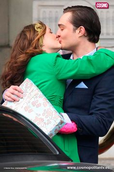 Beso entre Chuck y Blair