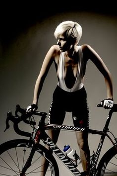 """Stephanie Clerckx - Nice story of a model who """"pretends"""" to ride for the Quick Step Team. She does not."""