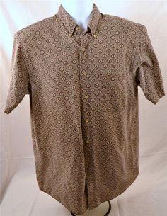 Davis Taylor Men's Size Large 100% Cotton Short Sleeve Casual Wear Shirt #DavidTaylor #Casual