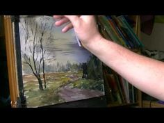 Watercolour painting demonstration using a photograph I took in Sutton Park - Part 3 of 3