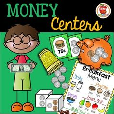 13 interactive, fun, and engaging money centers and games to compliment your money curriculum! Reinforce money concepts through interactive play! **PLEASE NOTE** These centers are included in my Grade Money Unit. Grade 1, First Grade, Second Grade, Classroom Money, Curriculum, Homeschool, Daily Math, Recording Sheets, Math Centers