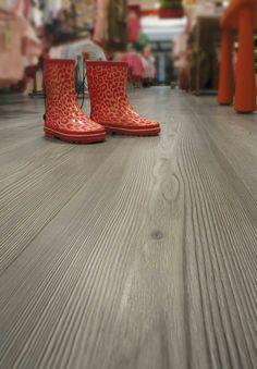 Formica Laminate Flooring in Smoke Cedar.