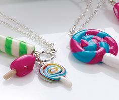 polymer clay jewelry for kids... Missing my Rosie   I think these would be super cute for her