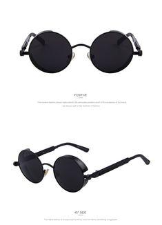 cc2238feb3 MERRY S Vintage Women Steampunk Sunglasses Brand Design Round Sunglasses  Oculos de sol UV400 Steampunk Couture