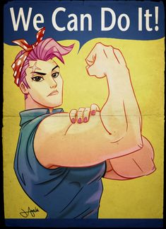 "Overwatch Zarya ""We Can Do It!"""
