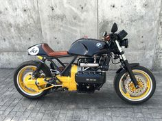 BMW K1 Cafe Racer, by ZWEIGER Custom Bobber, Custom Bikes, Bmw Cafe Racer, Cafe Racers, K100 Bmw, Bmw Motors, Retro Motorcycle, Cool Motorcycles, Bike Design