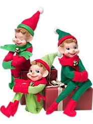 Classic Christmas Elves from Memory Lane