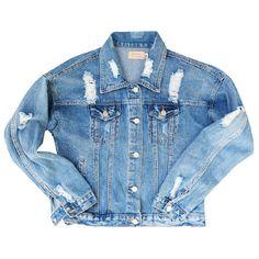 DENIM JACKET ❤ liked on Polyvore featuring outerwear, jackets, coats & jackets, tops, jean jacket, blue jean jacket, blue denim jacket, blue jackets and denim jacket