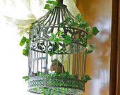birdcage metal arrangement