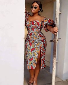 Short African Dresses, Ankara Short Gown Styles, Trendy Ankara Styles, Short Gowns, Ankara Gowns, African Fashion Ankara, Latest African Fashion Dresses, African Inspired Fashion, African Print Fashion