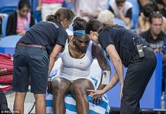 She's out! Serena was forced to withdraw from Perth's Hopman Cup due to a recurring knee injury on Tuesday