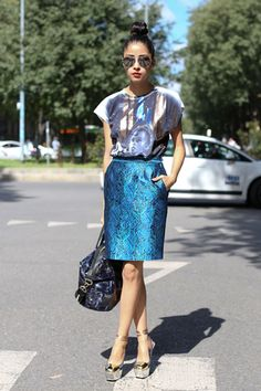 How to style a pencil skirt for a night out