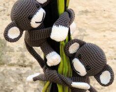 Macaco cortina - Amigurumi de Crochê