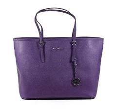 Michael Kors Jet Set Travel Tote Purple PVC Large « Clothing Impulse