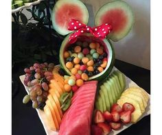 Minnie mouse fruit salad