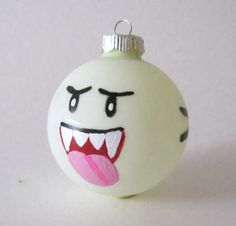 Boo Ornaments. My next tree will be a nerdy tree. Complete with either a Weeping Angel or TARDIS topper. :)
