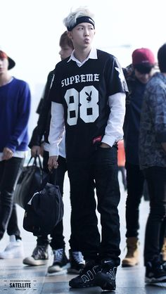 BTS Rap Monster airport fashion at Gimpo Airport [140414]