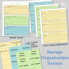 A printable system for organizing your storage bins. Perfect for organizing your storage sheds, garage storage, garage organization, or attic storage. Garage Storage Bins, Attic Storage, Shed Storage, Tote Storage, Hidden Storage, Storage Boxes, Attic Organization, Household Organization, Organizing Ideas