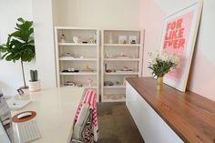 home office storage-ikea floating cabinets and butcherblock top Ikea Home Office, Office Space Decor, Home Office Storage, Ikea Sektion Cabinets, Ikea Kitchen Cabinets, Ikea Floating Cabinet, Eclectic Decor, Modern Decor, Ikea Shelves