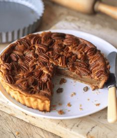 Pecans and toffee are meant to be together - and nothing proves that like Pecan Pie. This classic recipe really is worth the wait! Baking Recipes Uk, Uk Recipes, Easy Pie Recipes, Cooking Recipes, Dried Lentils, Pecan Nuts, Pie Cake, Classic Recipe, Carnation