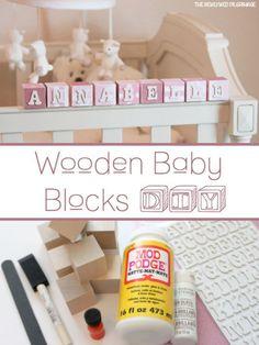 DIY name blocks for baby nursery