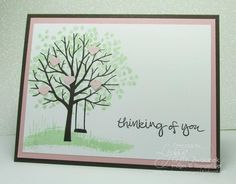 Easy Spring Sheltering Tree Hearts Branches Card by GWTW Junkie - Cards and Paper Crafts at Splitcoaststampers